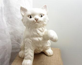 Vintage ceramic cat figurine
