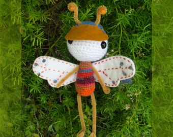 Boy Dragonfly Amigurumi Bendable Doll