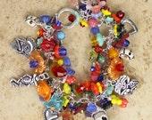 Playful Stranger Day of the Dead Bracelet