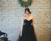 Black Floor Length Strapless - Gallery Gown by Ouma