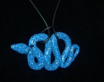 Graduation Gift Blue Necklace Charm Striking Snake Poison Dart Frog Design Stocking stuffer Christmas Tree Ornament