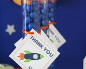 Favor Tags - Outer Space - Rocket Party - PRINTABLE only