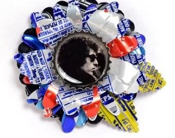 Recycled Jewelry Bob Dylan Shrine Brooch