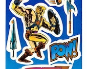 Vintage 1984 Masters of the Universe He-Man Large Sticker Mod