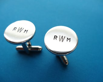 Personalized Cufflinks - Monogram - Initials -  Custom Cufflinks - Great dad or groom gift