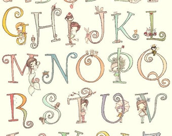 Custom Girl Name Print 11 x 14---Nursery Letters-Cute Animals And Girls
