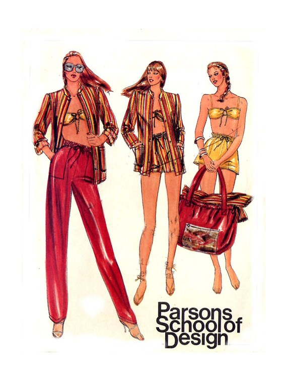 Butterick 3770 Misses Shorts / Bandeau Top / Tote Bag / Pants / Jacket - Sewing Pattern - Size 16 Uncut