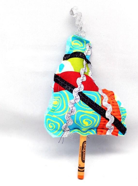 Items similar to Christmas Tree Ornament - Whimsical ...
