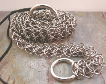 Stainless Steel Chainmaille Belt, Interwoven European 4 in 1, IE4-1 Chainmail Belt