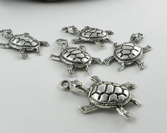 8 Turtles Charms - 35mm x 21mm
