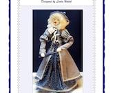 Nellie Victorian Snow-lady Art Doll E-Pattern