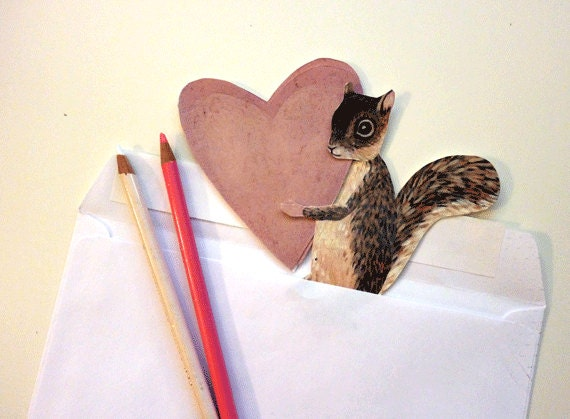 Diy Clever Heart Squirrel Love
