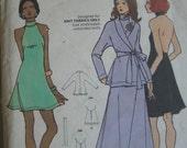 Vintage 1970s Young American Designer Betsey Johnson Halter Dress Pattern 6907 Uncut