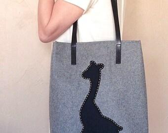 Wool Giraffe Bag