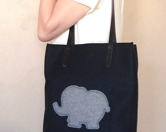 Wool Elephant Bag