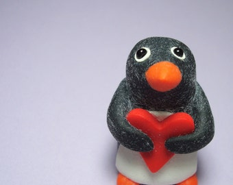 Love Will Keep Us Warm- Baby Penguin Sculpture