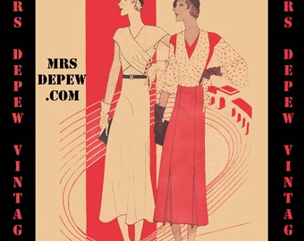 Vintage Sewing Pattern Catalog Booklet McCall Style News June 1932 PDF -INSTANT DOWNLOAD-