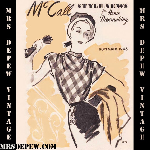 Vintage Pattern Catalog Booklet McCall Style News November 1946 Pattern Booklet PDF -INSTANT DOWNLOAD-