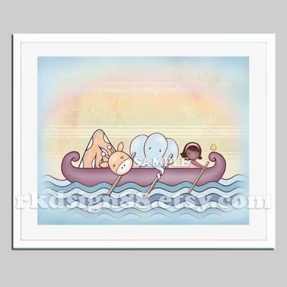 Adoption art for nursery decor, nursery art, kids room art, adoption gift, African girl, Stronger