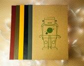 Gocco Printed Spirograph Robot Notebook
