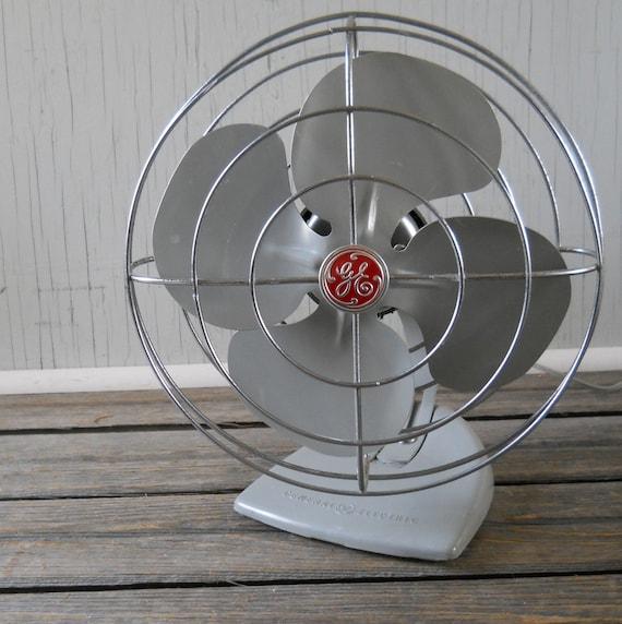 Vintage Ge Fan : Vintage ge oscillating fan grey general electric