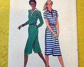 Butterick Pattern 3011 Misses' Dress Size 10 Preppy Shirt Dress with Collar