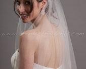 Crystal Rhinestone Cap Veil, Juliet Cap Style Bridal Veil, Flapper Style Wedding Veil - Sadie