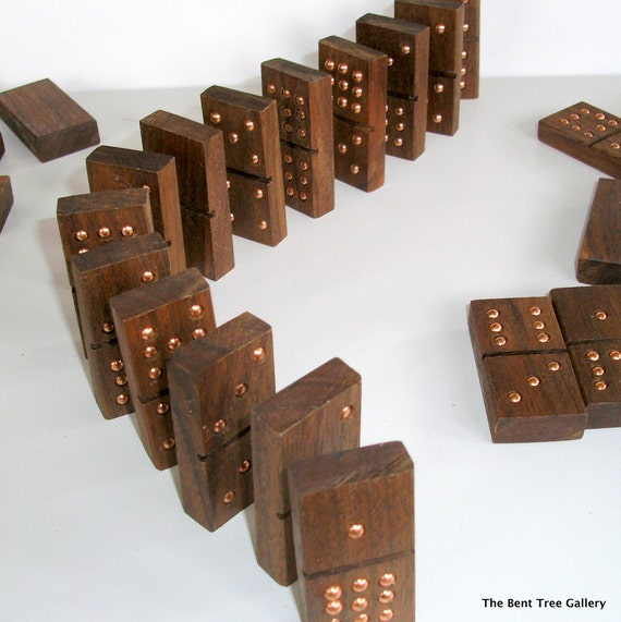 handmade dominoes handmade dominoes of black walnut wood by thebenttreegallery 5621