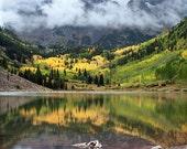 Mountain Photography -Maroon Bells -Colorado Photography -Aspen Tree -Fall Color Photo -Scenic Photography -Colorado Gift