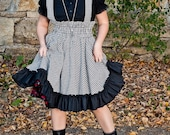Gothic Lolita Plus Size Jumper Hounds Tooth Retro Style Lolita- Custom to Order 3X-5X