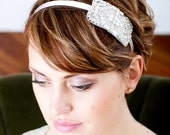 Headband Silver Art Deco Wedding Style Rhinestone Beaded Women Teen Adult