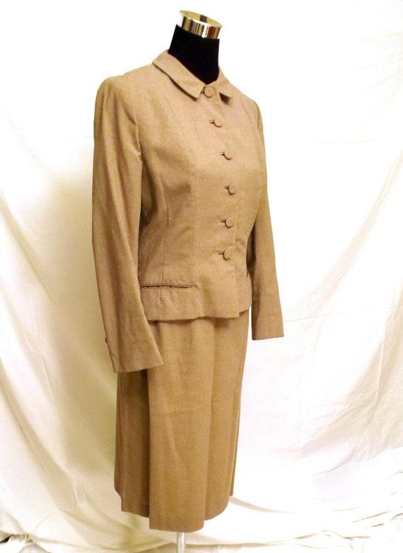 clearance 1950 s vintage s suit beige gray