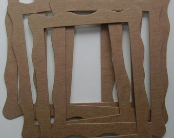 WAVY FRAMES -  Bare CHiPBOARD Die Cuts - Picture Frames