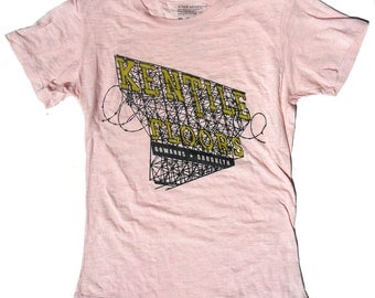 Pink Woman's Kentile Burnout T-Shirt XL