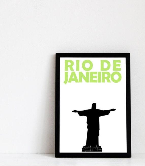 Rio de Janeiro Print // Brazil Art Travel Print