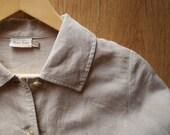 Beige Natural Linen Blaser - size m