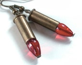 Crime of Passion - Tiny Brass Bullet Earrings