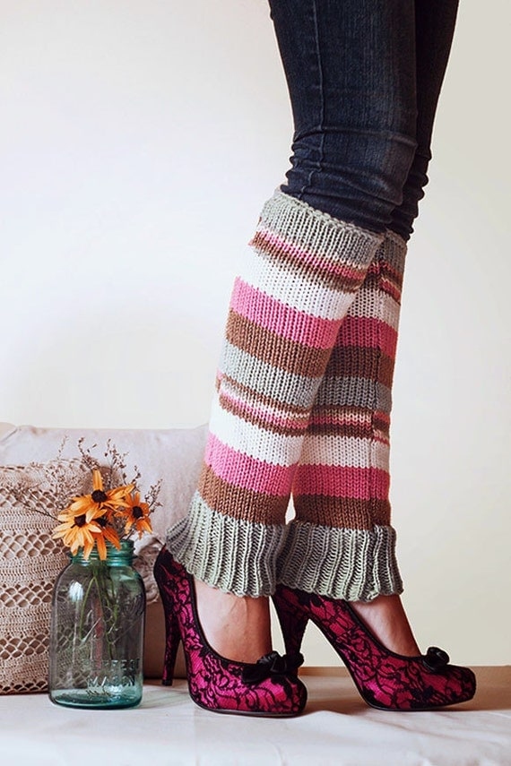 Knitting Pattern For Thigh High Leg Warmers : Knit Leg Warmers Knit Boot Socks Adult by Nothingbutstring ...