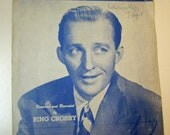 "SALE -- Bing Crosby ""Day by Day"" Sheet Music 1945"