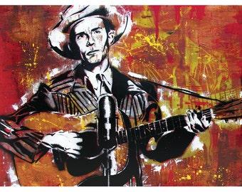 Hank Williams - Ramblin' Man- 24 x 18 High Quality Art Poster