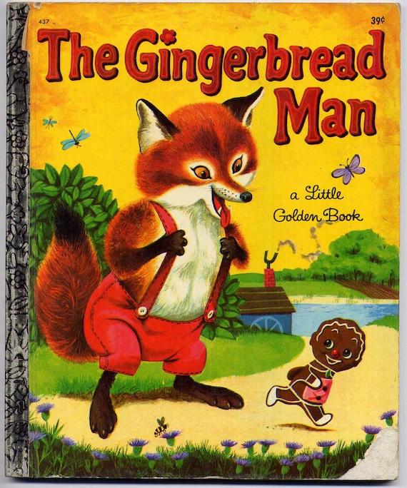 Vintage 1960s The Gingerbread Man Little Golden Book Childrens