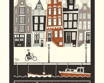 Pedal Through Amsterdam 11x17