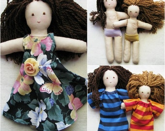 "Larger Custom doll - design your own, 12"" cloth doll, you choose: skin, hair and eye colors, special features, clothes, accessories"
