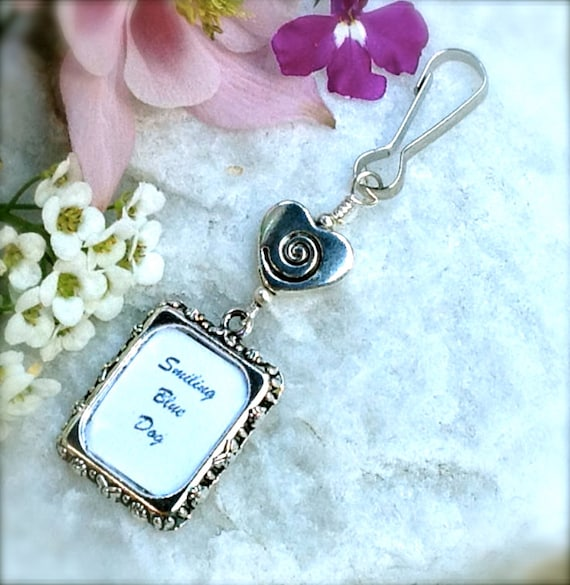 wedding bouquet photo charm swirl heart memorial charm