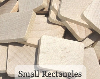 Unfinished Wooden Rectangles 1 3/16inch x 1inch x 3/16inch, Pack of 100