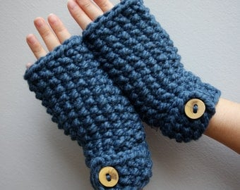 SALE- Fingerless gloves, button mitts, texting gloves (LAST ONE)