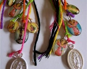 Day of the Dead Protective Saint Charm Earrings-   Healing your soul everyday