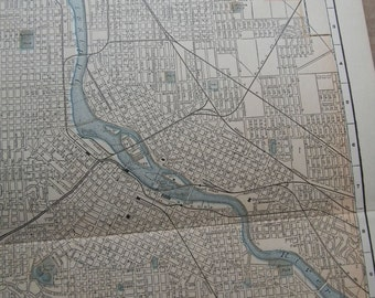 1903 City Map Minneapolis Minnesota - Vintage Antique Map Great for Framing 100 Years Old