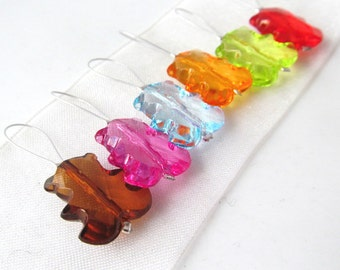 Gummi Bears -  Bright Colors Collection - Six Snag Free Stitch Markers - Fits Up To 6.5 mm (10.5 US) - Limited Edition