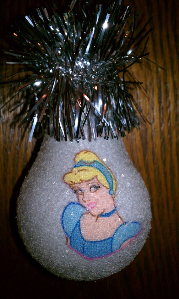 Cinderella keepsake light bulb ornament